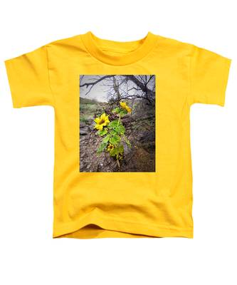 Toddler T-Shirt featuring the photograph Wild Desert Sunflower by Judy Kennedy