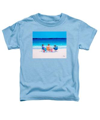 Beach Painting 'girl Friends' By Jan Matson Toddler T-Shirt
