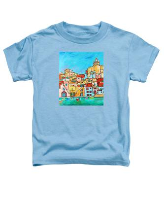 Boats In Front Of The Buildings Vii Toddler T-Shirt