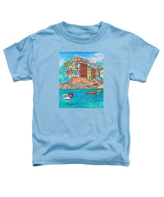 Boats In Front Of The Buildings X Toddler T-Shirt