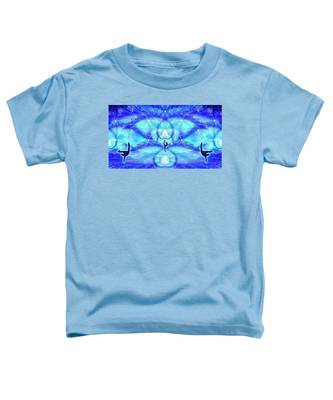 Toddler T-Shirt featuring the digital art Cosmic Spiral Ascension 65 by Derek Gedney