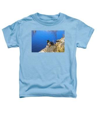Mallard Looking Over His Domain Toddler T-Shirt