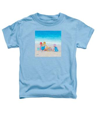 Beach Painting - Building Sandcastles Toddler T-Shirt