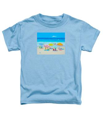 Beach Painting - Catching The Breeze Toddler T-Shirt