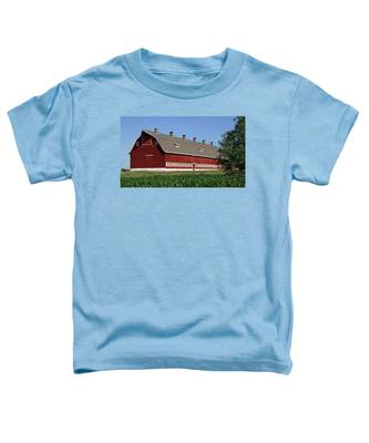 Big Red Barn In Spring Toddler T-Shirt