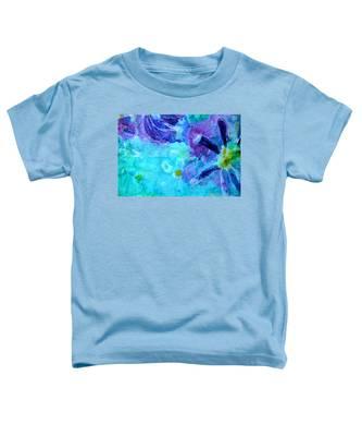 Blue Water Flower Toddler T-Shirt