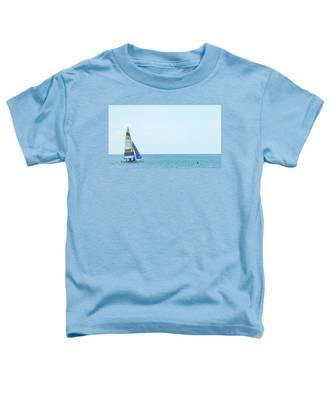Colorful Catamaran 3 Delray Beach Florida Toddler T-Shirt