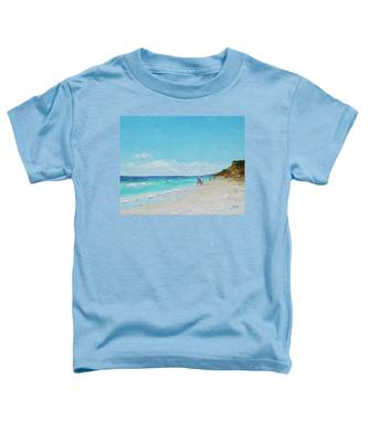 Ditch Plains Beach Montauk Hamptons Ny Toddler T-Shirt