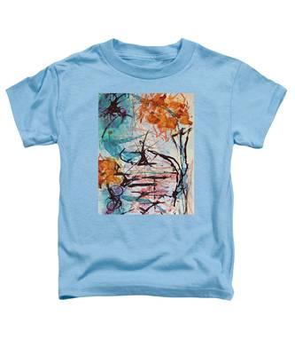 Orange Flowers In Vase Toddler T-Shirt