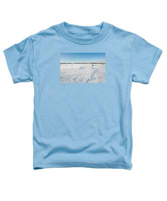 Tracks In The Snow Toddler T-Shirt