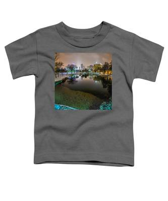 Charlotte Nc Skyline Covered In Snow In January 2014 Toddler T-Shirt