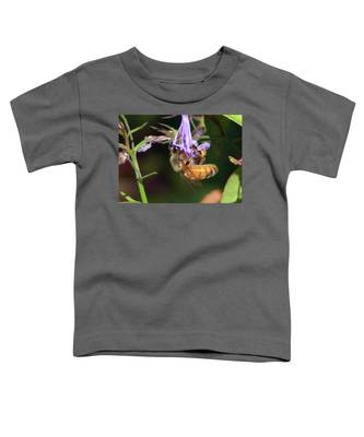 Bee With Flower Toddler T-Shirt