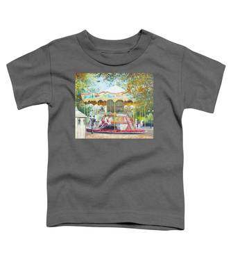 Carousel In Montmartre Paris Toddler T-Shirt