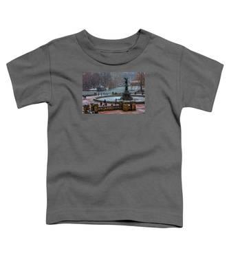 Central Park Snow Storm Toddler T-Shirt