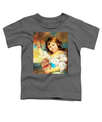 Cherry Basket Girl Toddler T-Shirt