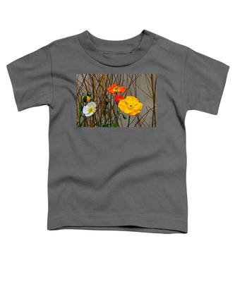 Colorful Poppies And White Willow Stems Toddler T-Shirt