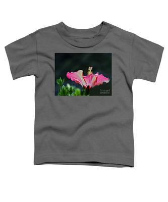 High Speed Hibiscus Flower Toddler T-Shirt