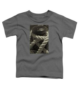 Hold On Black And White Sepia Toddler T-Shirt