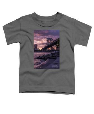 Nyc- Manhatten Bridge At Night Toddler T-Shirt