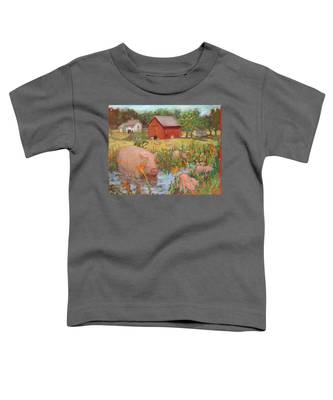 Pigs And Lilies Toddler T-Shirt