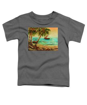 Sail Boats On Indian Ocean  Toddler T-Shirt