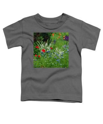 Squarely Spring Floral Garden Toddler T-Shirt