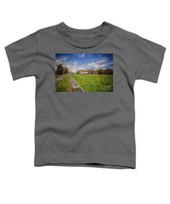 Stone Barn On A Spring Morning Toddler T-Shirt