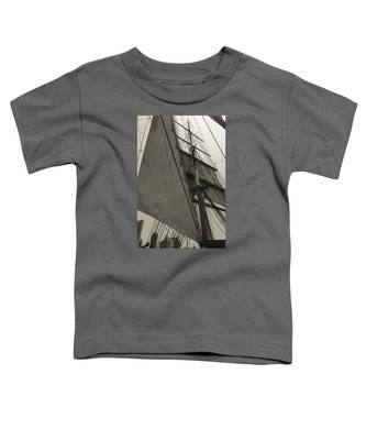 Suare And Triangle Black And White Sepia Toddler T-Shirt