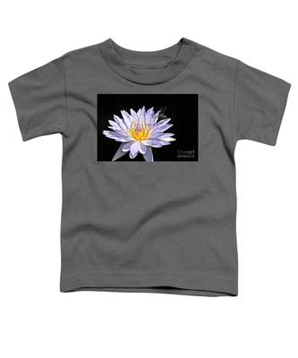 Summer Magic -- Dragonfly On Waterlily On Black Toddler T-Shirt