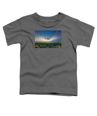 Sunflower Field At Sunset Toddler T-Shirt