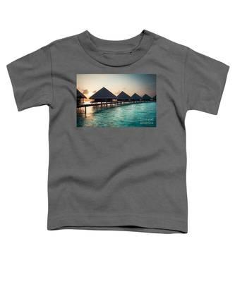 Waterbungalows At Sunset Toddler T-Shirt