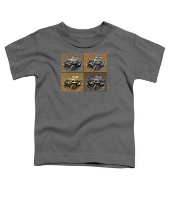 Willys Jeep Mb Car Drawing Toddler T-Shirt
