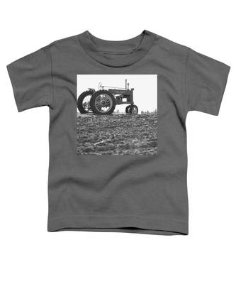 Old Tractor II In Black-and-white Toddler T-Shirt