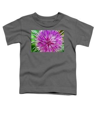 Purple Flower Fractal Toddler T-Shirt
