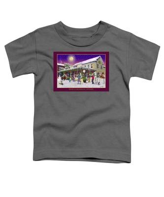 Winter At Zebs General Store In North Conway Nh Toddler T-Shirt