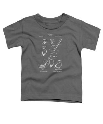 1910 Golf Club Patent Artwork - Gray Toddler T-Shirt