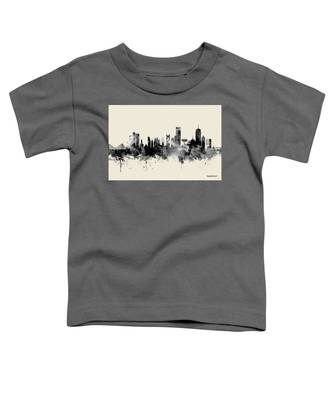 Boston Massachusetts Skyline Toddler T-Shirt