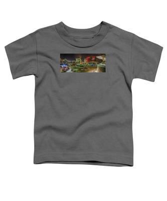 Greenville South Carolina Near Falls Park River Walk At Nigth. Toddler T-Shirt