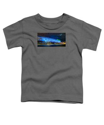 April 2015 -  Birmingham Alabama Baseball Regions Field At Night Toddler T-Shirt