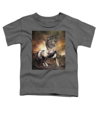 Apache War Horse Landscape Toddler T-Shirt