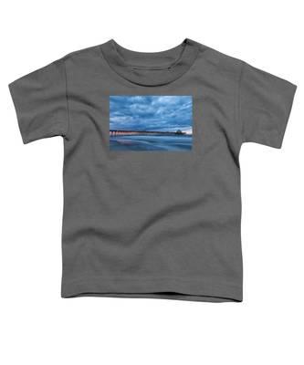 Before Sunrise At Folly Beach Pier, South Carolina Toddler T-Shirt