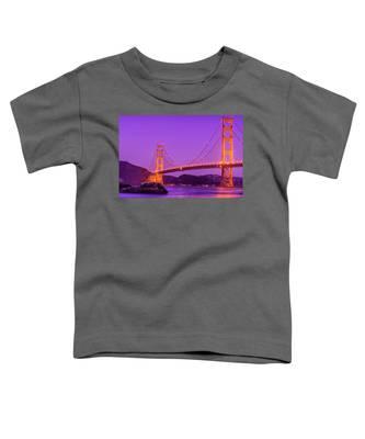 Golden Gate Bridge In The Blue Hour Toddler T-Shirt