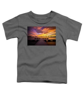 Boat Dock Sunset Toddler T-Shirt