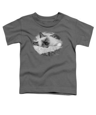 Charming - Black And White Toddler T-Shirt
