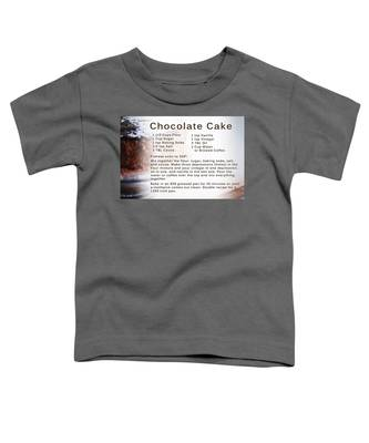 Chocolate Cake Recipe Toddler T-Shirt