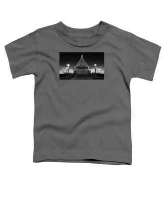 Christmas Lights On Manhattan Pier B And W Toddler T-Shirt
