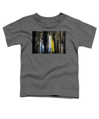 Cologne Cathedral Flags Toddler T-Shirt by Ross Henton