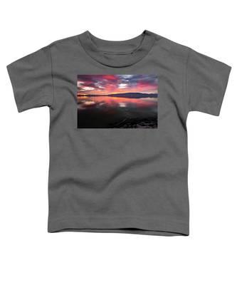 Colorful Utah Lake Sunset Toddler T-Shirt