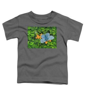Common Blue On Bird's-foot Trefoil Toddler T-Shirt