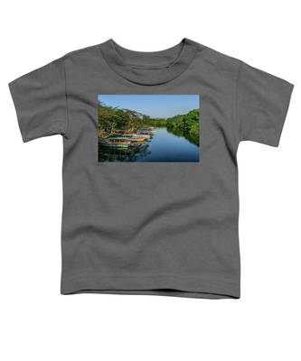 Boats By The River Toddler T-Shirt